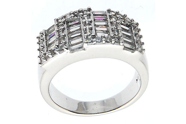 Sterling Silver CZ Paved Ring Style (zy304)