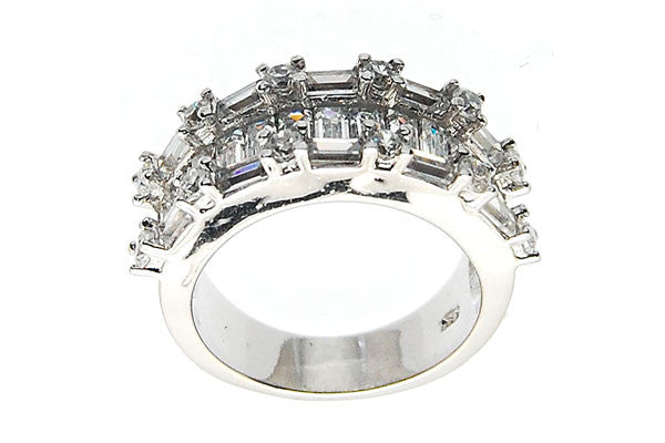 Sterling Silver CZ Paved Ring Style (zy305)