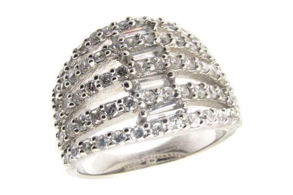 Sterling Silver CZ Paved Ring Style (xy307)