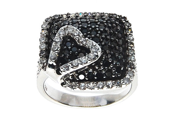 Sterling Silver CZ Paved Ring Style (zy308)
