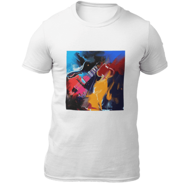 T-Shirt Flaming guitar Herren