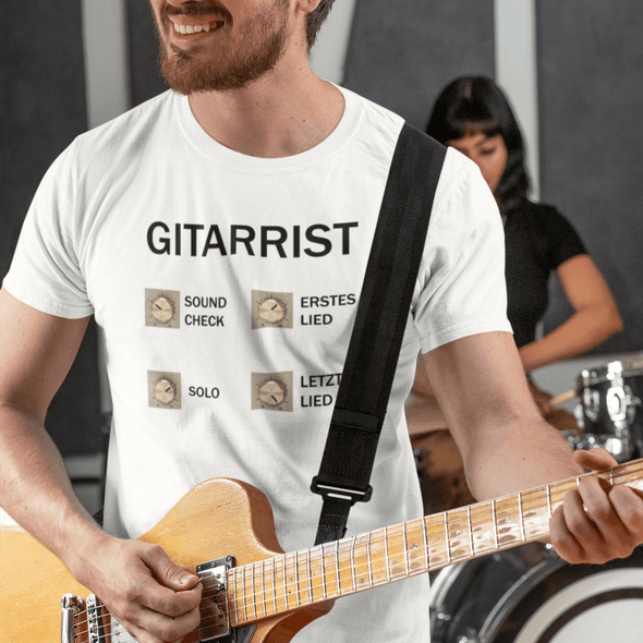 T-Shirt Loud Guitarist Herren