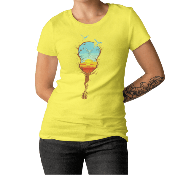 T-Shirt Sunset Damen