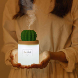 Open image in slideshow, Cactus Ultrasonic H2O Humidifier - Cactus Aroma Diffuser