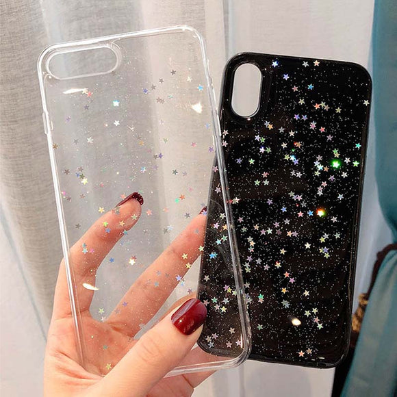 Bling Star Glitter Phone Case For iPhone 11 Pro XS Max XR X 8 7 6 6S Plus 5S SE