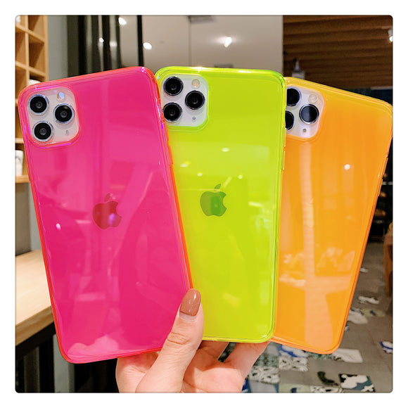 Shockproof Neon Phone Case For iphone 11 Pro Max XR X XS Max 7 8 7 plus 8 plus