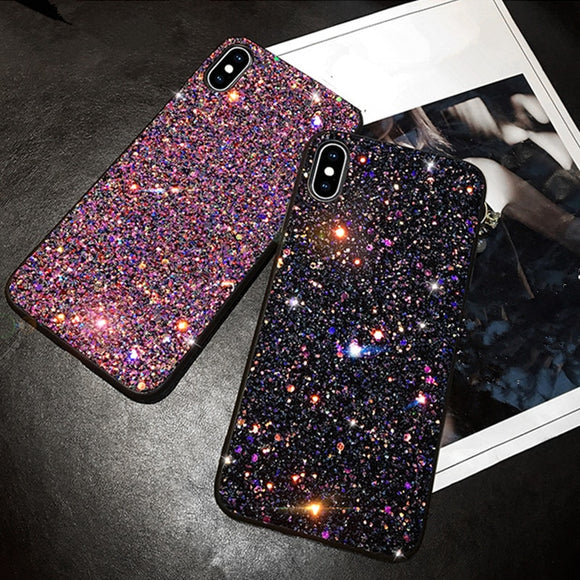 Luxury Fashion Glitter Bling Case For iPhone 6 6S 7 Plus 8 Plus iPhone X XR XS 6 7 8 Plus Phone Case