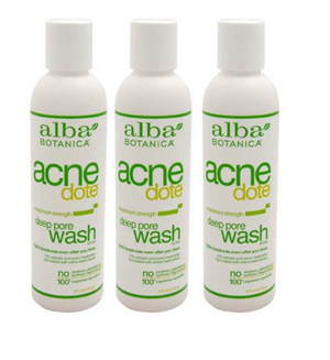 Alba Botanica -Acne Dote Deep Pore Wash -177ml Pack of 3