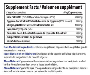Supplements Facts for Alora Naturals Prost First- 500 mg, 90 Caps