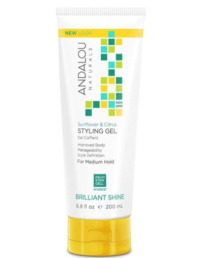 Andalou Naturals Sunflower Citrus Shine Styling Gel, 200 ml