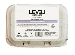 Level Naturals Bath Bombs, 6 Units
