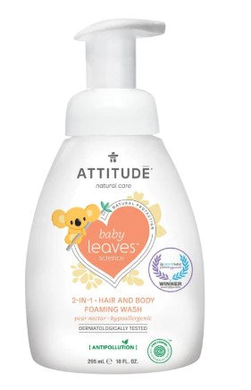 Attitude 2in1 Foaming Wash Pear Nectar, 295 ml