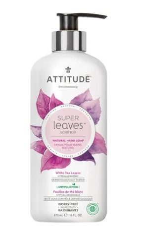 Attitude Hand Soap - White Tea Leaves, 473 ml