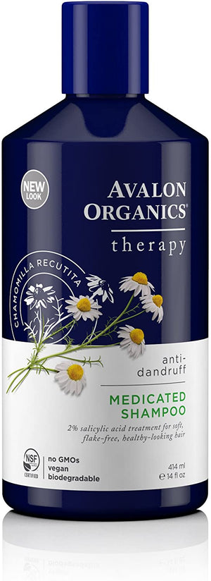 Avalon Organics Anti-Dandruff Medicated Shampoo, 414 ml