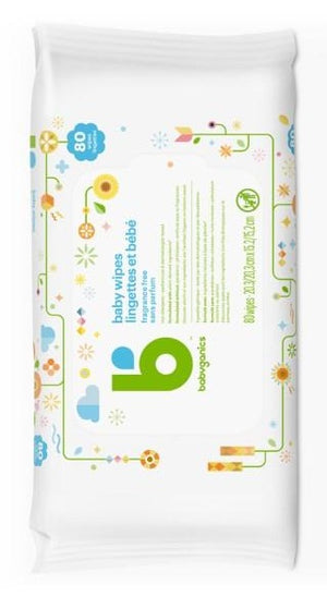 Babyganics Baby Wipes, 80 counts