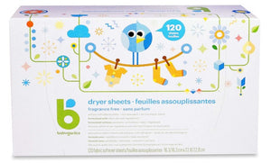 Babyganics  Dryer Sheets - Fragrance Free, 120 ct
