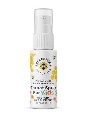 Beekeeper's Naturals Propolis Throat Spray for Kids , 30 ml