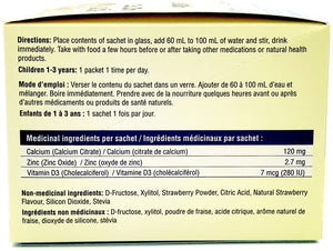 Medicinal Ingredients of Ca, Zn, Vitamin D3 by All Kidz