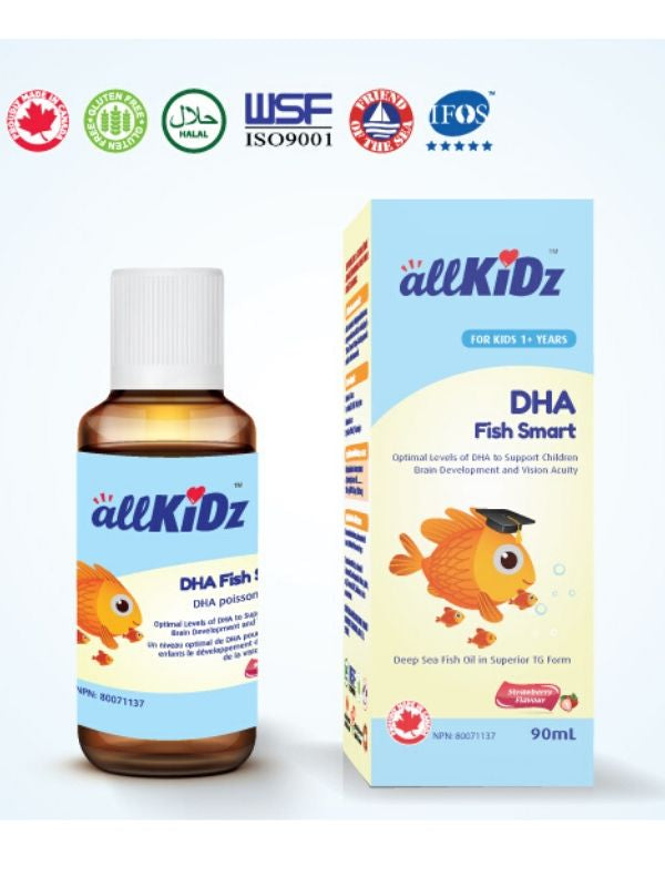 Allkidz Naturals  DHA Fish Smart, 90 ml