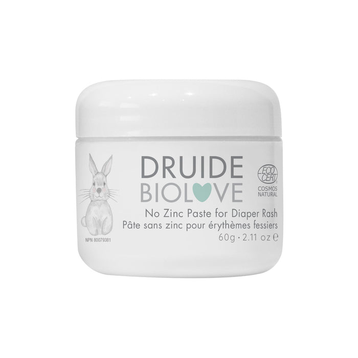 DRUIDE Laboratories Baby No Zinc Paste Diaper Rash, 60 g