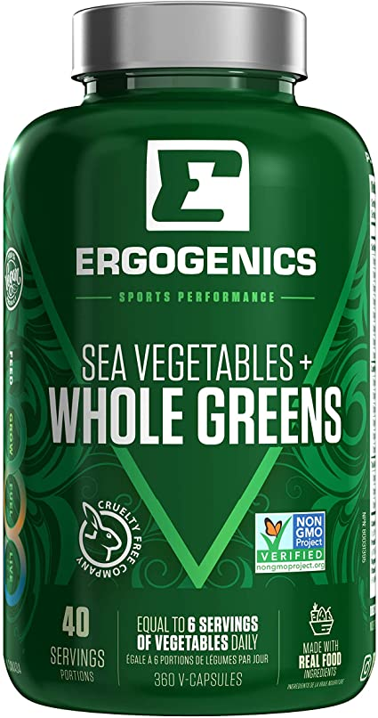 Ergogenics Nutrition Organic Whole Greens, 360 caps