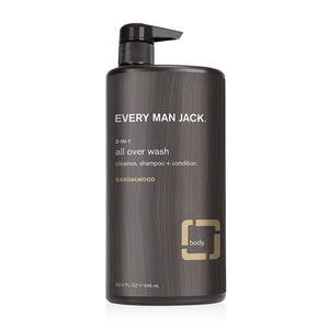 Every Man Jack 3-in-1 All Over Wash Sandalwood, 945 ml