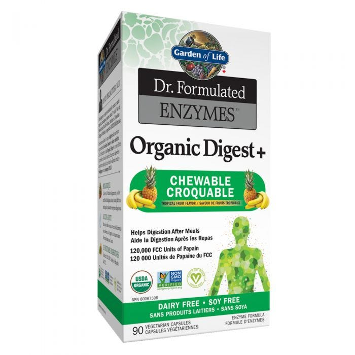 Garden of Life Organic Digest+, 90 chewables