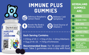 Herbaland Gummies for Adults: Immune Plus, 90 Gummies