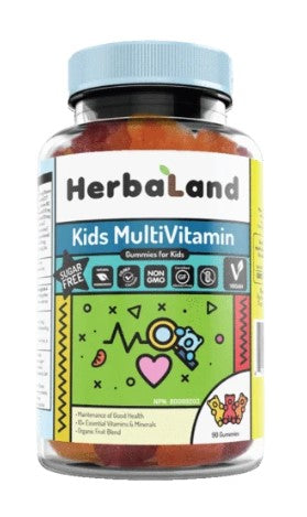 Herbaland Gummy for Kids: Multivitamins (Sugar-Free), 90 Gummies