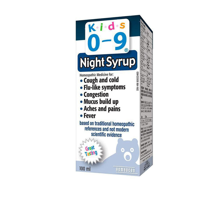 Homeocan KIDS 0-9 Cough & Cold Night-time Syrup