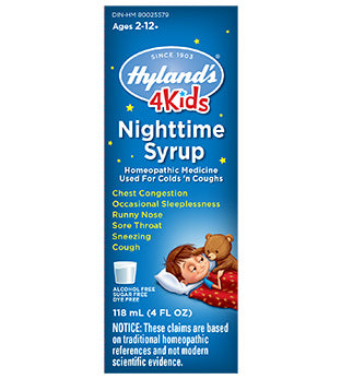 Hyland's 4KIDS Night-time Syrup, 118 ml