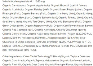 Ingredients-Garden of Life Organic Digest+, 90 chewables