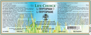 Ingredients-Life Choice L-Tryptophan 220+50mg B-6, 60 Vcaps