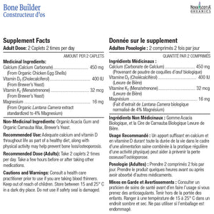 Ingredients Nova Scotia Organics Bone Builder blister pack, 14 caplets