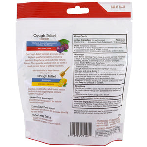 Drug Facts-Quantum Organic Cough Relief Bing Cherry, 18 ct bag
