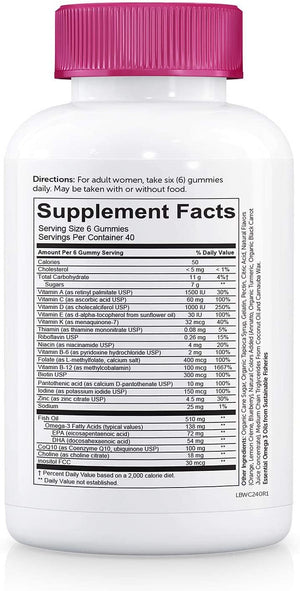 Supplement Facts-SmartyPants-Women's-Complete