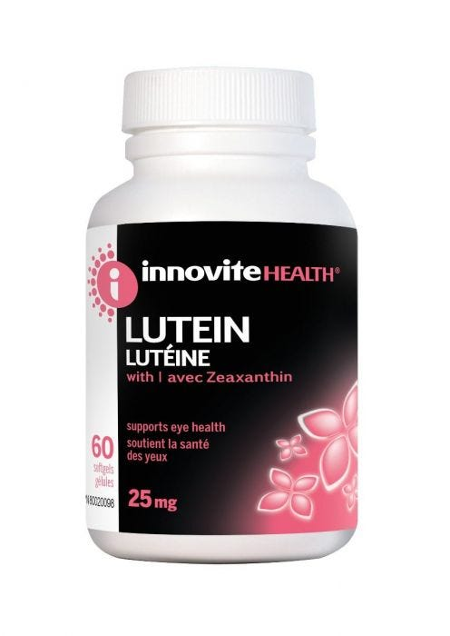Innovite Lutein 25mg, 60 Softgels
