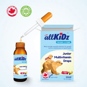 Allkidz Naturals Junior Multivitamin Drops, 50 ml