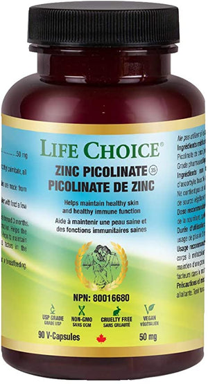 Life Choice Zinc Picolinate 50 mg, 90 Vcaps