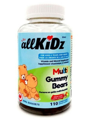 Allkidz Naturals Multi Gummy Bears, 110 gummies