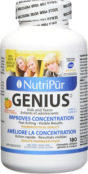 Nutripur Genius Kids and Teens, 180 Chew Softge