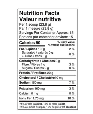 Nutrition Facts for Ancient Nutrition Bone Broth Collagen Protein - Choc, 357 g