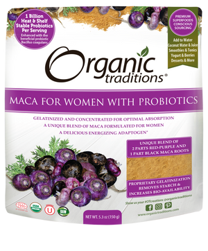 Organic Traditions Maca for Women with Probiotics, 150 g