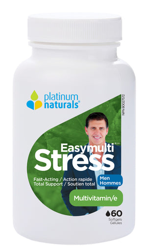 Platinum Naturals Easymulti Stress for Men, 60 Softgels