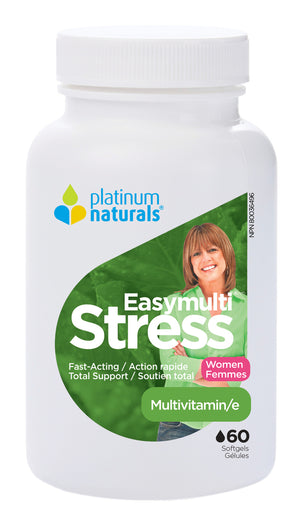 Platinum Naturals Easymulti Stress for Women, 60 Softgels