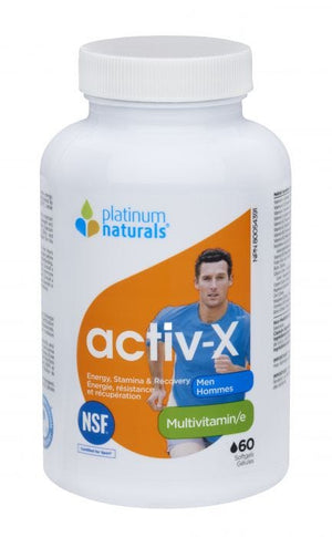 Platinum Naturals activ-X for Men, 60 Softgels