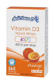 Platinum Naturals Delicious D Drops for Kids, 15 ml