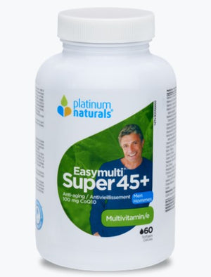 Platinum Naturals Super Easymulti 45+ for Men, 60 softgels