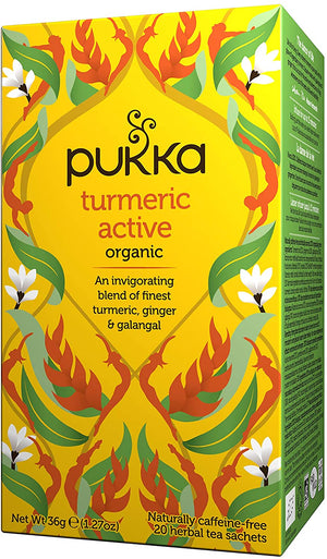 Pukka Turmeric Active, Organic Herbal Tea - 20 Tea Bags