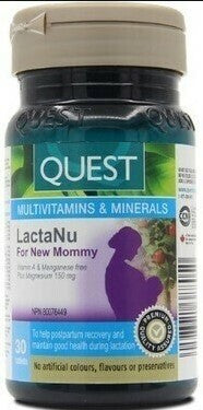 Quest LactaNu For New Mommy, 30 tabs